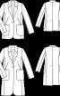Блейзер сатиновий прямого крою - фото 3