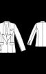 Жакет-блейзер з довгим коміром - фото 3