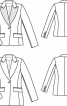 Блейзер з контрастними лацканами - фото 3