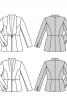 Жакет приталеного силуету з шалевим коміром - фото 6