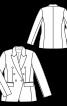 Жакет блейзер двобортний із прорізними кишенями - фото 3