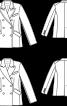 Блейзер із шерстяної двобічної тканини - фото 3