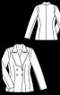 Жакет двубортный с прямоугольными лацканами - фото 3