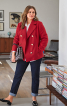 Жакет двобортний з кишенями у швах - фото 1