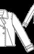 Жакет двобортний з широкими лацканами - фото 3