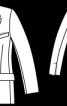 Жакет двобортний з двома шліцами - фото 3