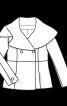 Жакет двобортний з відкладним коміром - фото 3