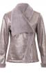Куртка шкіряна з асиметричною застібкою - фото 2