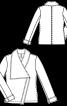 Куртка шкіряна з асиметричною застібкою - фото 3