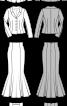Жакет і довга спідниця силуету «русалка» - фото 3
