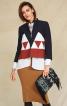Жакет А-силуету з контрастними вставками - фото 1