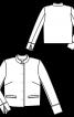 Жакет прямого крою з коміром-стійкою - фото 3