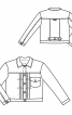 Куртка замшева у джинсовому стилі - фото 3