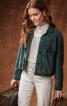 Куртка замшева у джинсовому стилі - фото 1