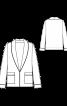 Жакет в піжамному стилі з шалевим коміром - фото 3