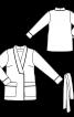 Жакет із шалевим коміром і великими кишенями - фото 3