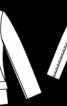 Жакет із асиметричною застібкою і коміром-стойкою - фото 3