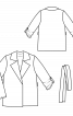 Жакет прямого силуэта без подкладки и застежки - фото 3