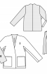 Жакет лаконічного крою з великими кишенями - фото 3