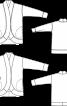 Жакет прямого крою з округленими пілочками - фото 3