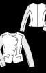 Жакет короткий зі шкіряними рукавами - фото 3