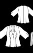 Жакет приталеного крою з рукавами 3/4 - фото 3