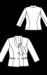 Жакет приталеного силуету з коміром-бантом - фото 3