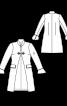 Пальто оригінального крою з коміром-стойкою - фото 3