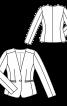 Жакет однобортний приталеного силуету без коміра - фото 3