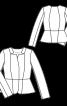 Жакет приталений із шовку дюпон - фото 3