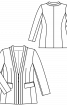 Жакет приталеного крою з фігурними планками - фото 3