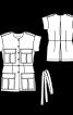 Жилет джинсовий в стилі сафарі з кишенями-портфелями - фото 3