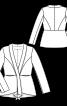 Жакет з баскою і шалевим коміром - фото 3