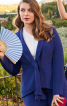 Жакет з баскою і шалевим коміром - фото 1