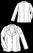 Жакет приталеного силуету з хвилястим коміром - фото 3