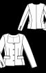 Жакет приталеного силуету з широким вирізом - фото 3
