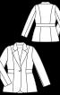 Жакет приталеного силуету із вшивним поясом - фото 3