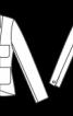 Жакет типу блейзер з накладними кишенями - фото 3