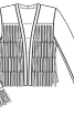 Жакет приталеного крою замшевий з бахромою - фото 3
