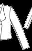 Жакет приталений із суцільнокроєним коміром - фото 3