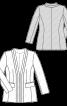 Жакет шовковий з фігурними планками - фото 3