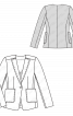 Жакет приталеного силуету з вузькими лацканами - фото 3