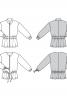 Куртка замшева з призбореною баскою - фото 6
