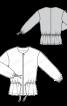 Куртка замшева з призбореною баскою - фото 3