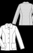 Жакет однобортний приталеного силуету - фото 3