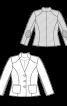 Жакет приталеного силуету з коміром-стойкою - фото 3