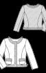 Жакет букле приталеного силуету в стилі Шанель - фото 3