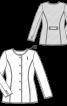 Жакет букле приталеного силуету без коміра - фото 3