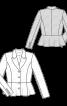 Жакет приталеного силуету з баскою - фото 3