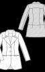 Жакет жакардовий приталеного силуету - фото 3